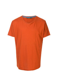 Camiseta con cuello circular naranja de Dolce & Gabbana
