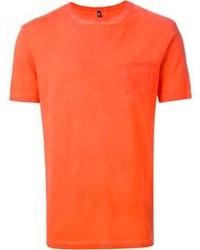 Camiseta con cuello circular naranja de Dondup