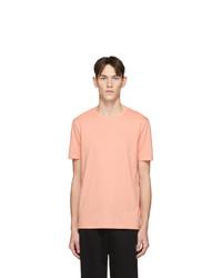 Camiseta con cuello circular naranja de Hugo