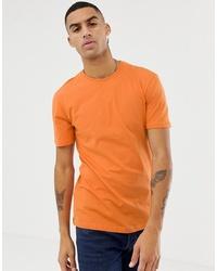 Camiseta con cuello circular naranja de Jefferson