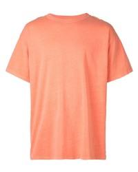 Camiseta con cuello circular naranja de John Elliott