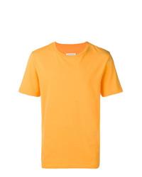 Camiseta con cuello circular naranja de Maison Margiela