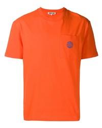 Camiseta con cuello circular naranja de McQ Alexander McQueen