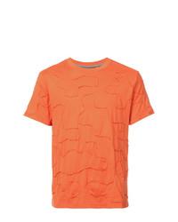 Camiseta con cuello circular naranja de Mostly Heard Rarely Seen