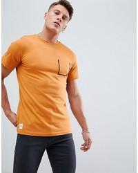 Camiseta con cuello circular naranja de NATIVE YOUTH