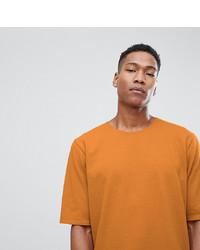 Camiseta con cuello circular naranja de Noak