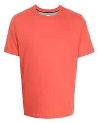Camiseta con cuello circular naranja de Paul Smith