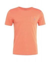 Camiseta con cuello circular naranja de Ralph Lauren