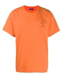 Camiseta con cuello circular naranja de Rassvet