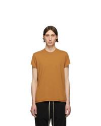 Camiseta con cuello circular naranja de Rick Owens DRKSHDW