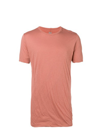 Camiseta con cuello circular naranja de Rick Owens
