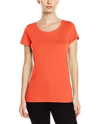 Camiseta con cuello circular naranja de Stedman Apparel