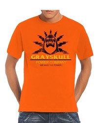 Camiseta con cuello circular naranja de Touchlines