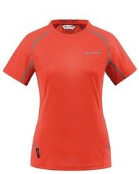 Camiseta con cuello circular naranja de Vaude