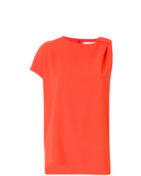 Camiseta con cuello circular naranja de Victoria Victoria Beckham