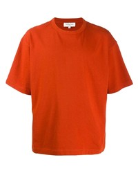Camiseta con cuello circular naranja de YMC