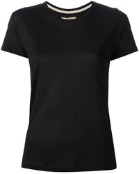 Camiseta con cuello circular negra original 1311855