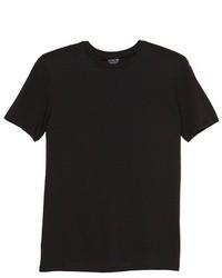 Camiseta con cuello circular negra original 386784