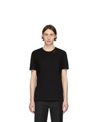 Camiseta con cuello circular negra de Alexander McQueen