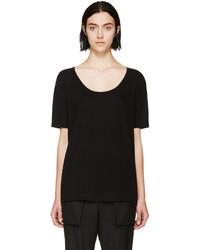 Camiseta con cuello circular negra de Alexander Wang