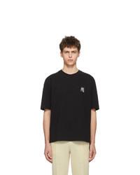 Camiseta con cuello circular negra de AMI Alexandre Mattiussi