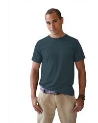 Camiseta con cuello circular negra de Anvil