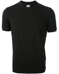 Camiseta con cuello circular negra de Armani Collezioni