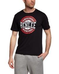 Camiseta con cuello circular negra de BenLee