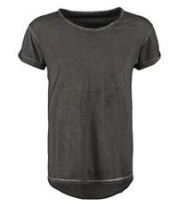 Camiseta con cuello circular negra de Boom Bap