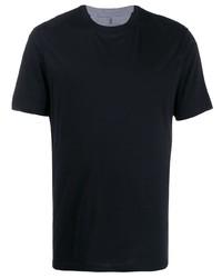 Camiseta con cuello circular negra de Brunello Cucinelli