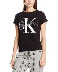Camiseta con cuello circular negra de Calvin Klein