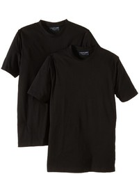 Camiseta con cuello circular negra de Casamoda
