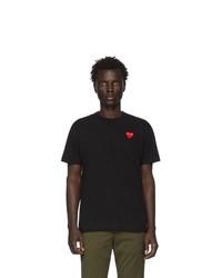 Camiseta con cuello circular negra de Comme Des Garcons Play