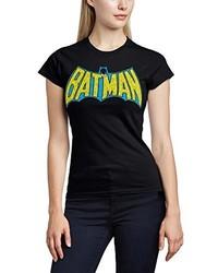 Camiseta con cuello circular negra de DC Comics