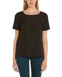 Camiseta con cuello circular negra de Deby Debo