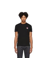 Camiseta con cuello circular negra de Diesel