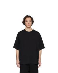 Camiseta con cuello circular negra de Dries Van Noten