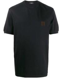 Camiseta con cuello circular negra de Ermenegildo Zegna