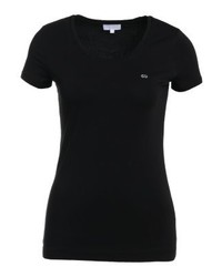 Camiseta con cuello circular negra de Escada
