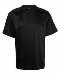 Camiseta con cuello circular negra de Fendi