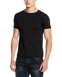 Camiseta con cuello circular negra de Fruit of the Loom