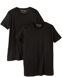 Camiseta con cuello circular negra de Garage
