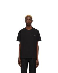 Camiseta con cuello circular negra de Givenchy