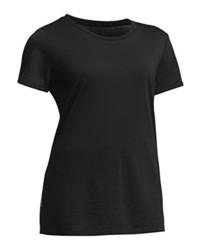 Camiseta con cuello circular negra de Ice Breaker