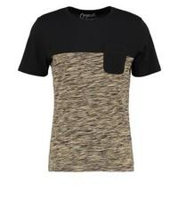 Camiseta con Cuello Circular Negra de Jack & Jones