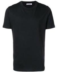 Camiseta con cuello circular negra de Jil Sander