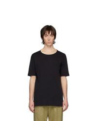 Camiseta con cuello circular negra de Lemaire