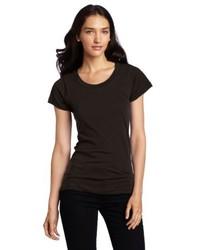 Camiseta con cuello circular negra de LnA