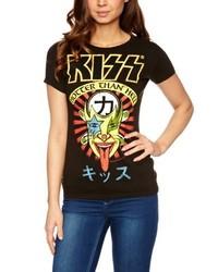 Camiseta con cuello circular negra de Logoshirt