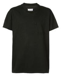 Camiseta con cuello circular negra de Maison Margiela
